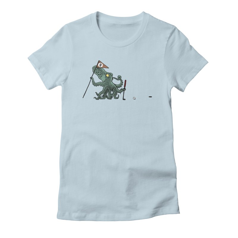 Octoputts Women's Fitted T-Shirt by Calamityware