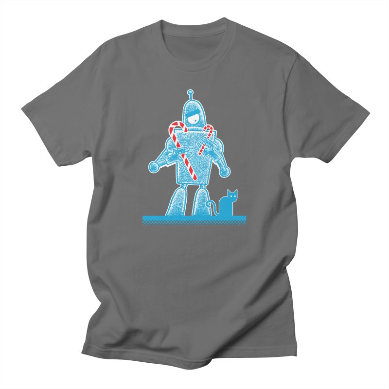 Robot Candy Cane Women's T-Shirt by Calamityware