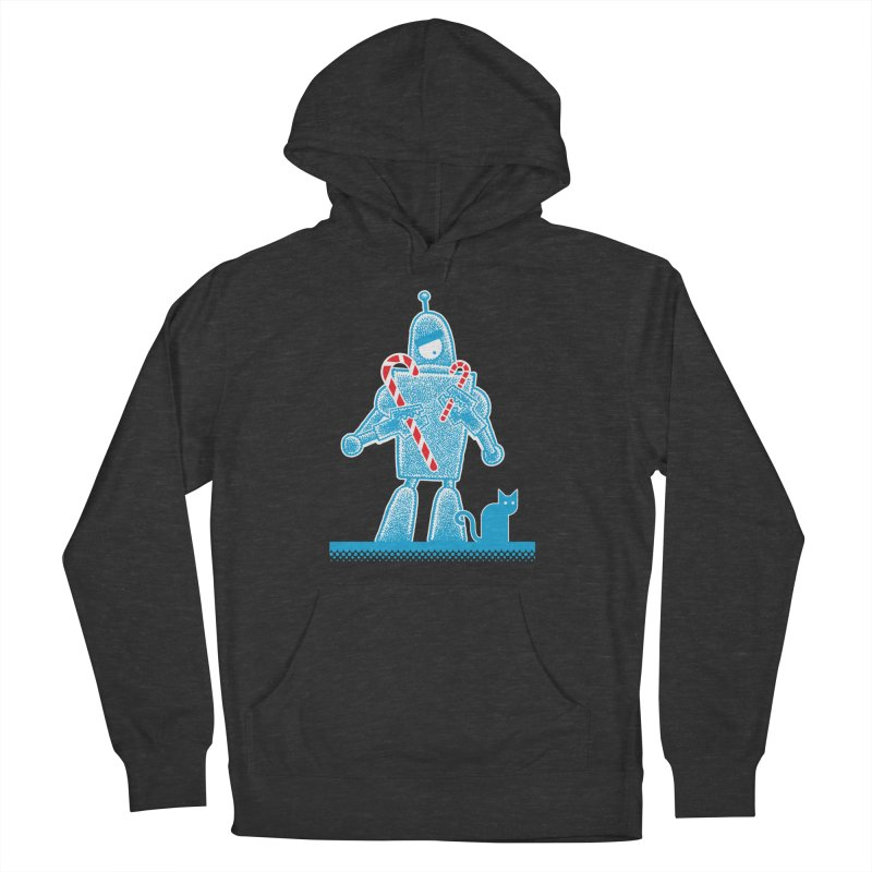Robot Candy Cane Women's Pullover Hoody by Calamityware