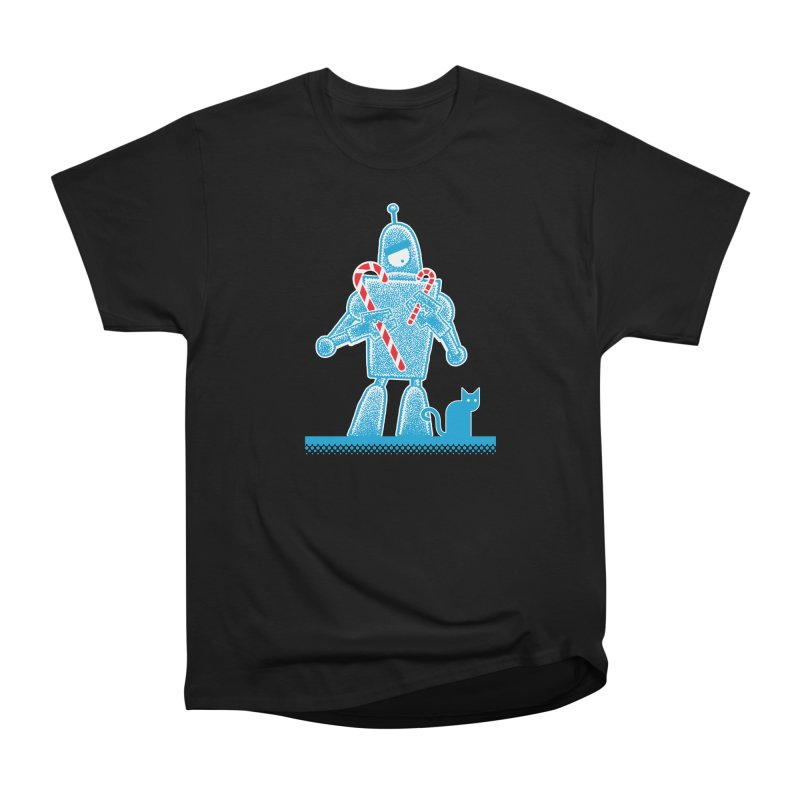 Robot Candy Cane Men's Classic T-Shirt by Calamityware