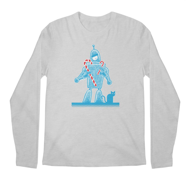 Robot Holiday Men's Longsleeve T-Shirt by Calamityware