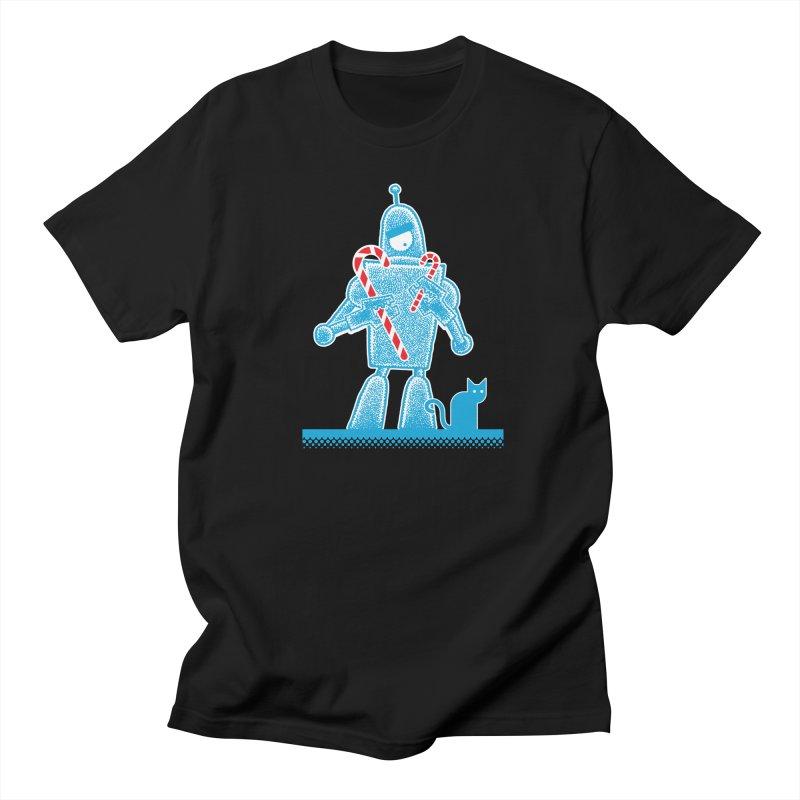 Robot Holiday Men's T-shirt by Calamityware
