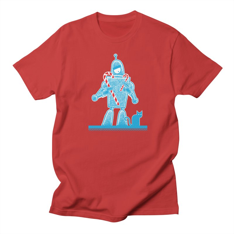 Robot Candy Cane Women's Unisex T-Shirt by Calamityware