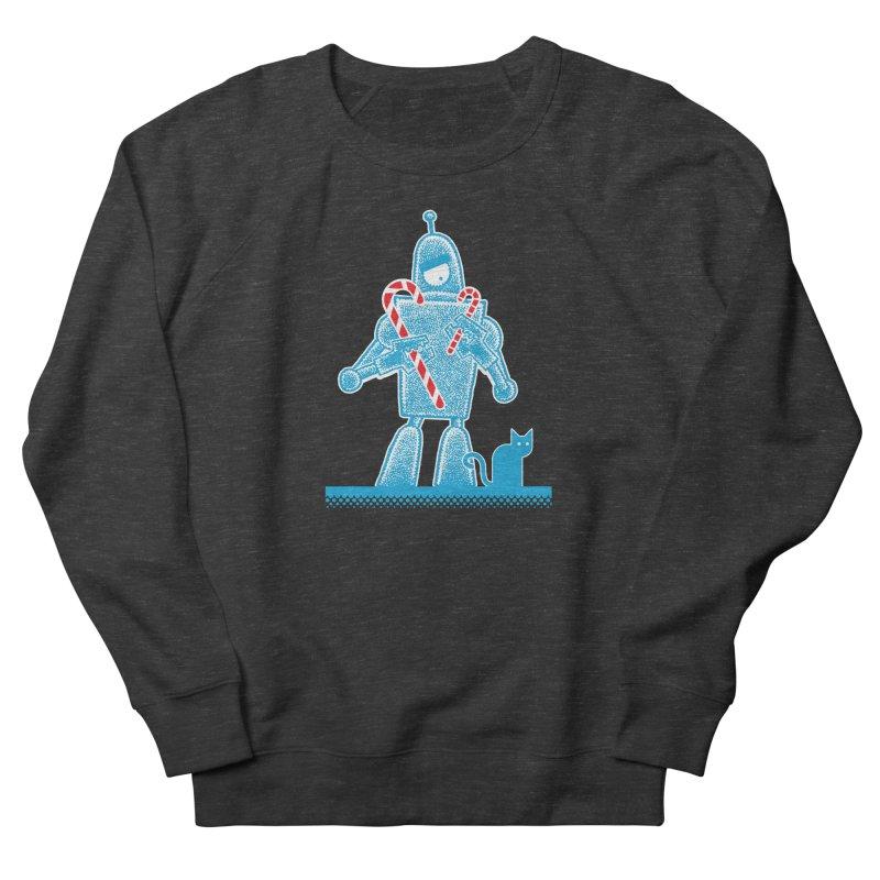 Robot Candy Cane Men's Sweatshirt by Calamityware