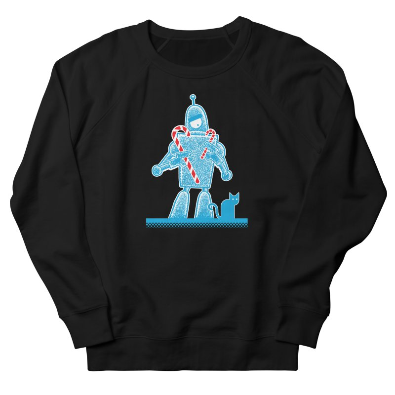 Robot Candy Cane Men's Sweatshirt by Calamityware