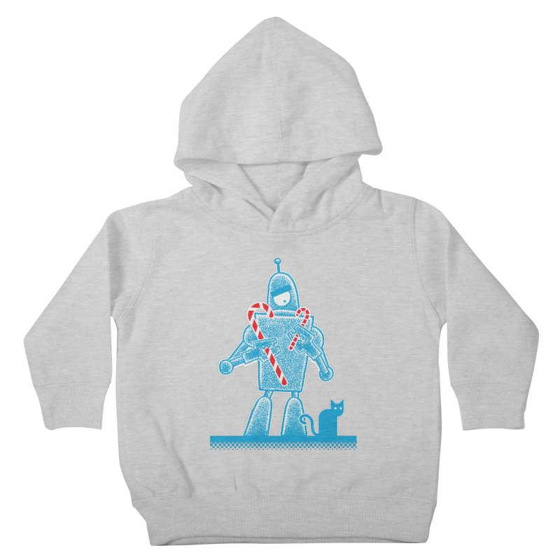 Robot Holiday Kids Toddler Pullover Hoody by Calamityware