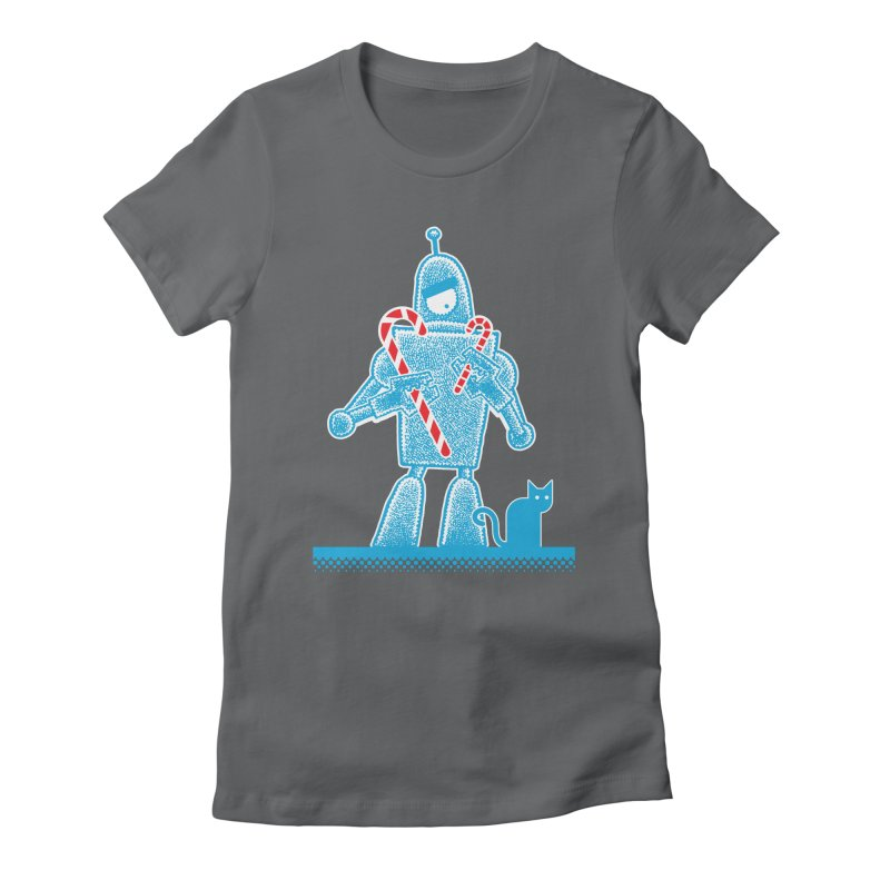 Robot Holiday Women's Fitted T-Shirt by Calamityware