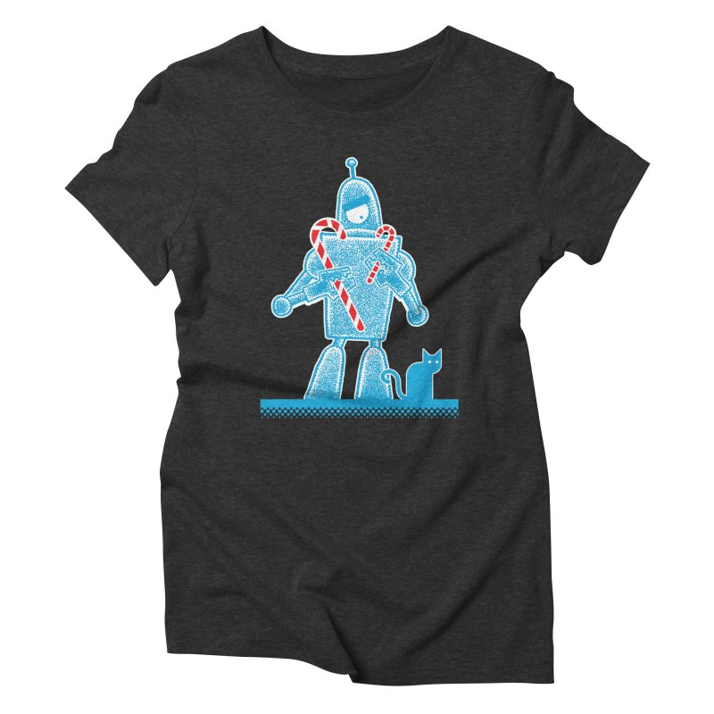 Robot Holiday Women's Triblend T-shirt by Calamityware