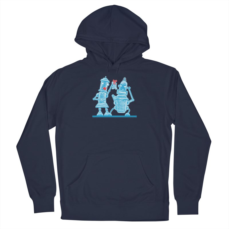 Robots Under Mistletoe Men's Pullover Hoody by Calamityware