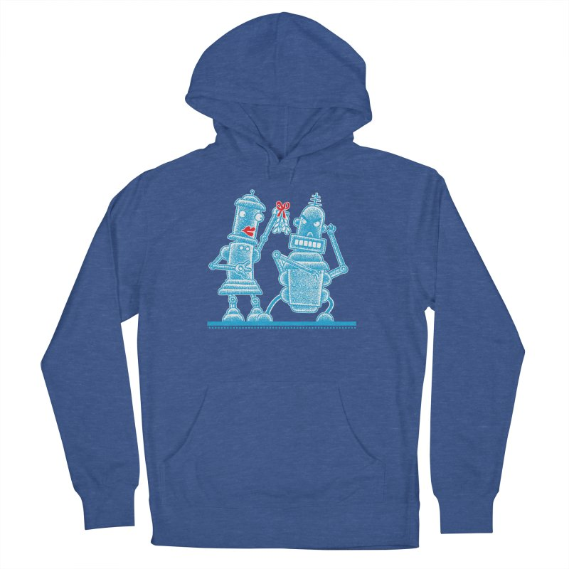 Robots Under Mistletoe Women's Pullover Hoody by Calamityware