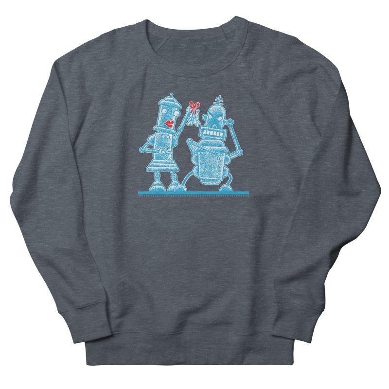 Robots Under Mistletoe Women's French Terry Sweatshirt by Calamityware