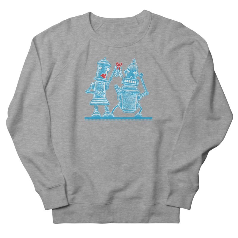 Robots Under Mistletoe Women's Sweatshirt by Calamityware