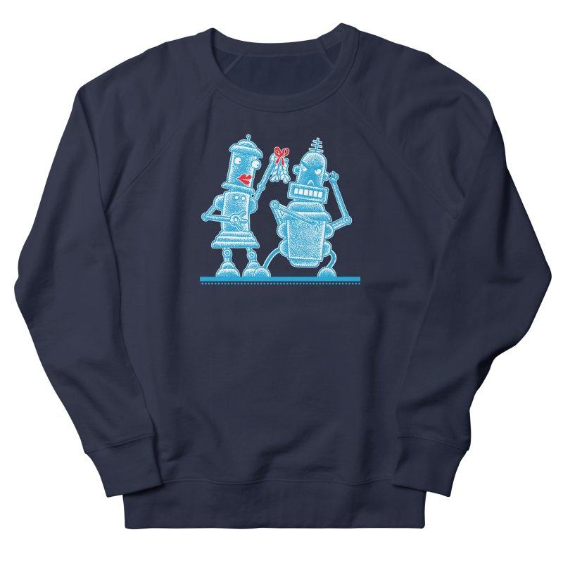 Robots Under Mistletoe Men's Sweatshirt by Calamityware