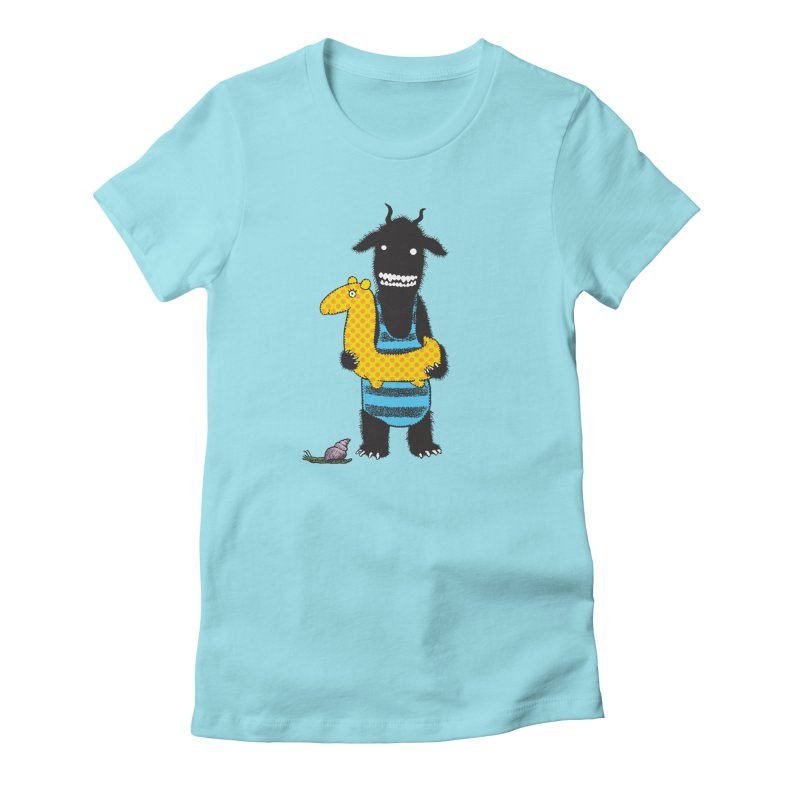 Bathing Beauty Women's Fitted T-Shirt by Calamityware