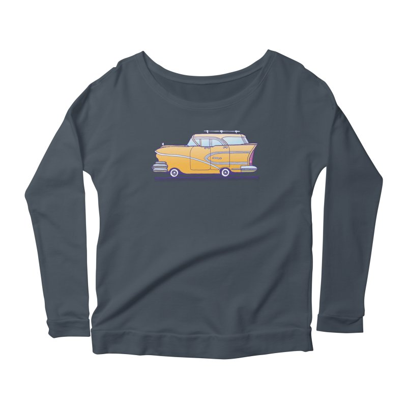 1958 Buick Women's Scoop Neck Longsleeve T-Shirt by Calamityware