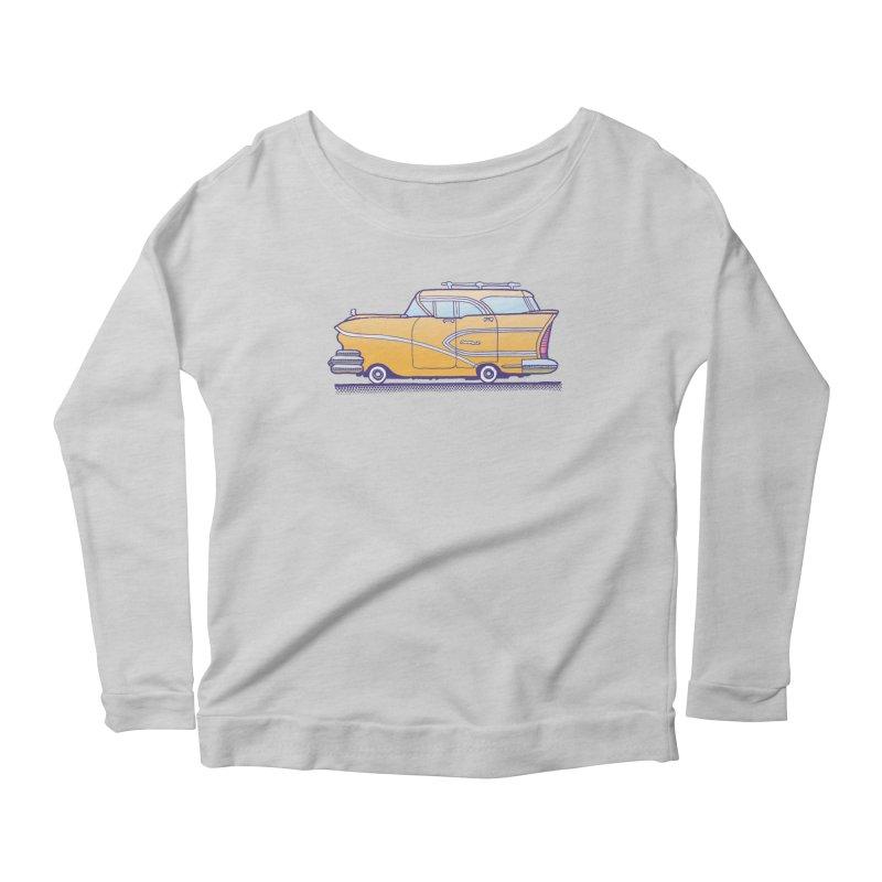 1958 Buick Women's Scoop Neck Longsleeve T-Shirt by Calamityware