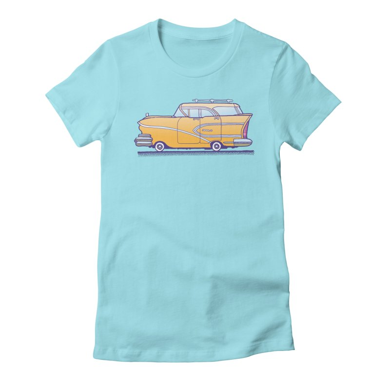 1958 Buick Women's Fitted T-Shirt by Calamityware