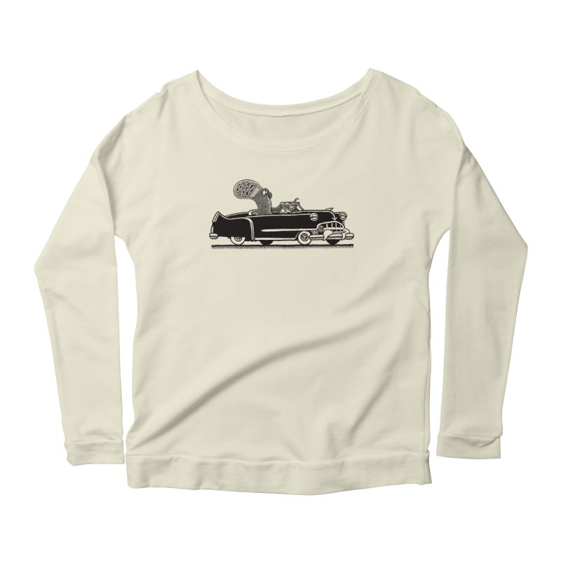 OctoCaddy Women's Scoop Neck Longsleeve T-Shirt by Calamityware