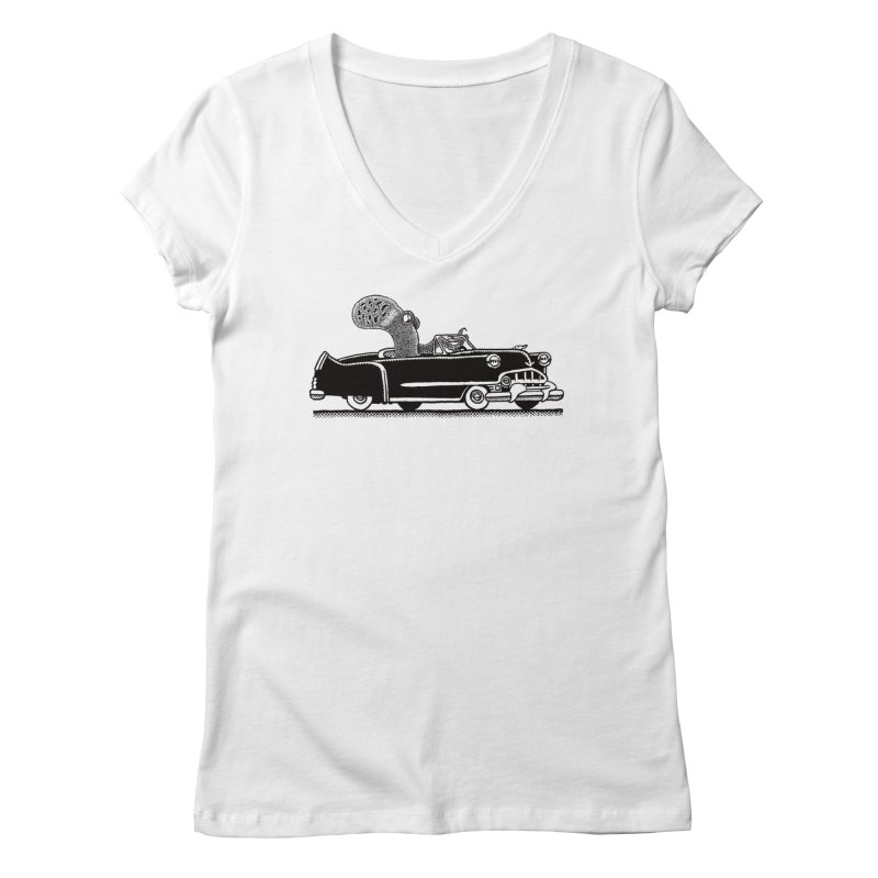OctoCaddy Women's V-Neck by Calamityware