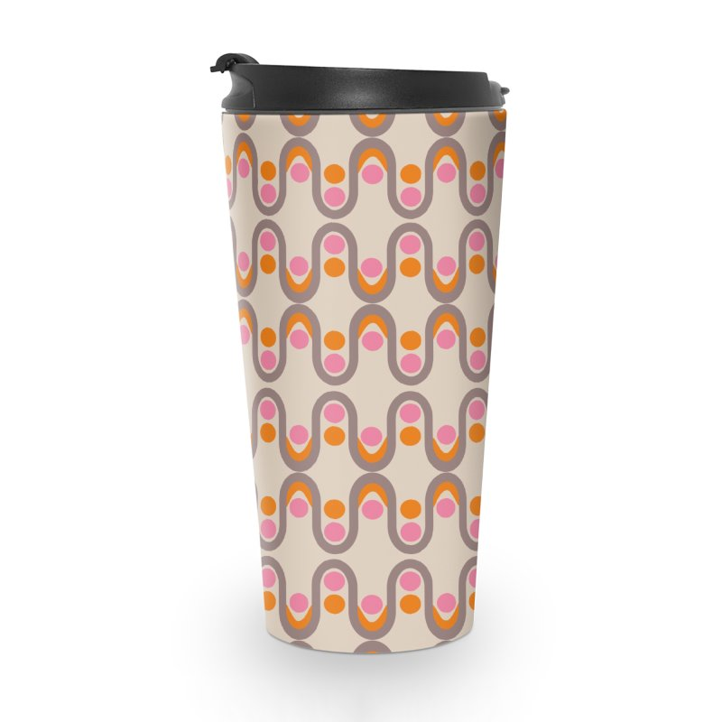 Steve Dots Sixties Accessories Travel Mug by Caligráfica