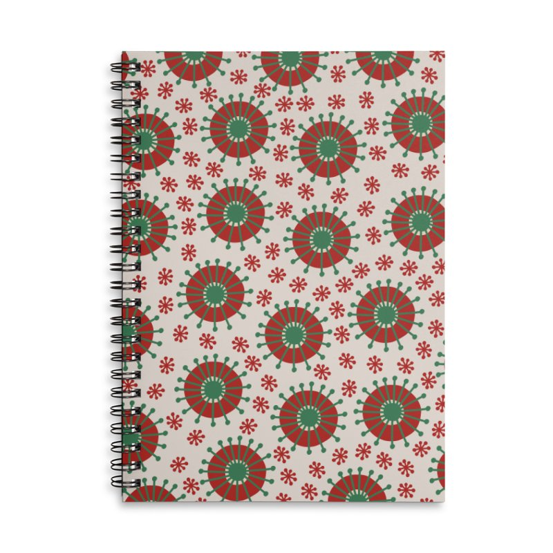 Carousel Christmas Accessories Lined Spiral Notebook by Caligráfica