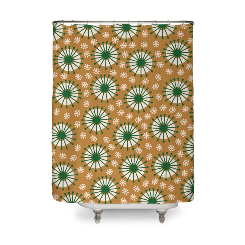 Carousel Amber Home Shower Curtain by Caligráfica