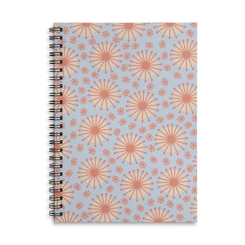 Carousel Blue Retro Accessories Lined Spiral Notebook by Caligráfica
