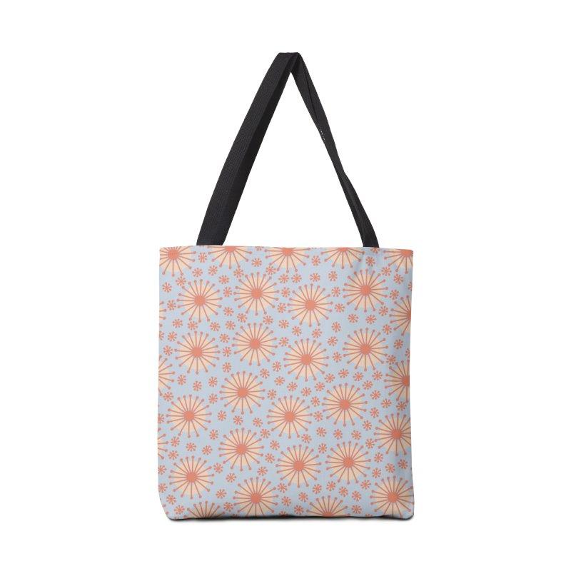 Carousel Blue Retro Accessories Tote Bag Bag by Caligráfica