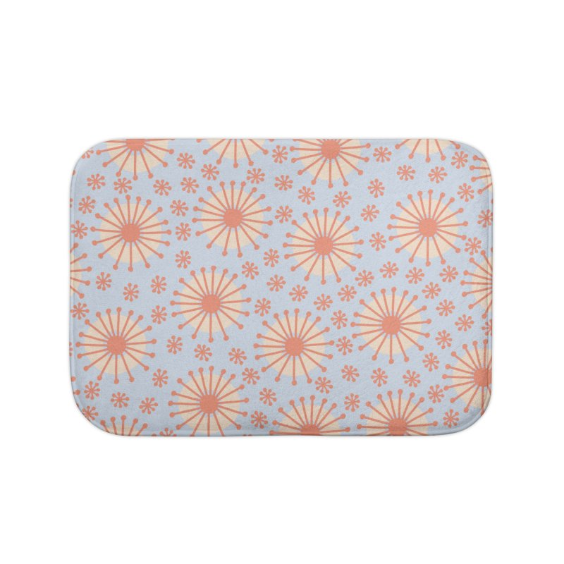 Carousel Blue Retro Home Bath Mat by Caligráfica