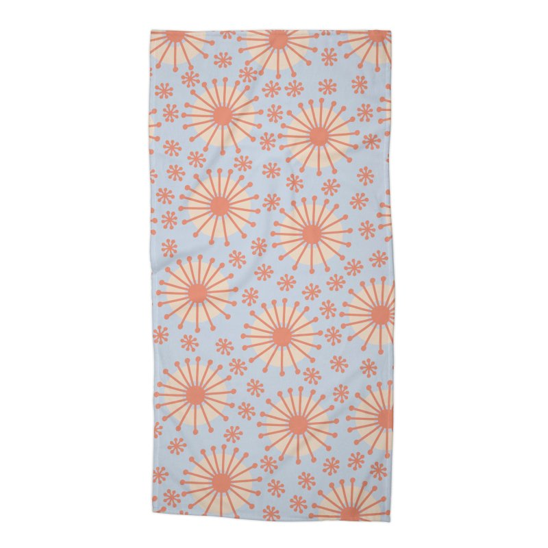 Carousel Blue Retro Accessories Beach Towel by Caligráfica