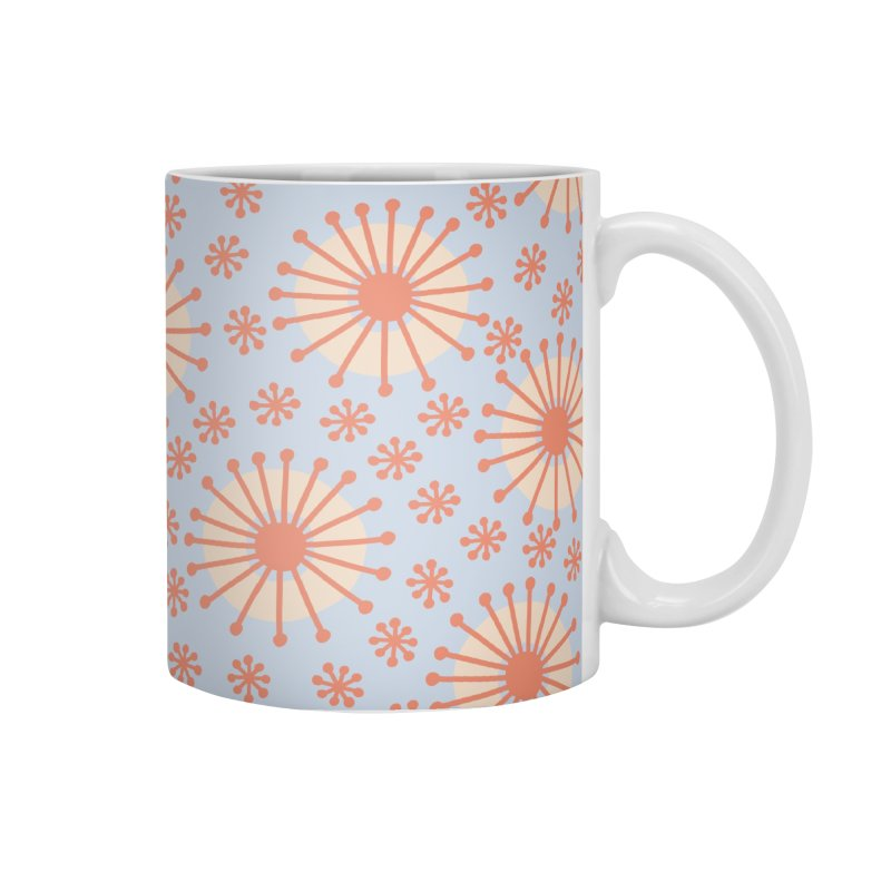Carousel Blue Retro Accessories Mug by Caligráfica