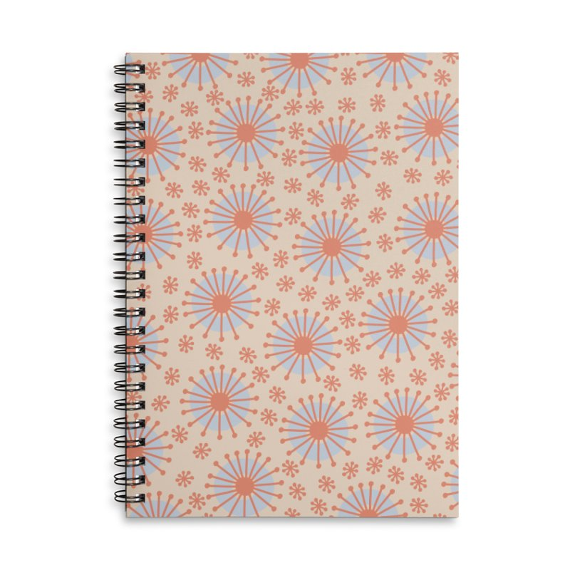 Carousel Retro Blue Accessories Lined Spiral Notebook by Caligráfica