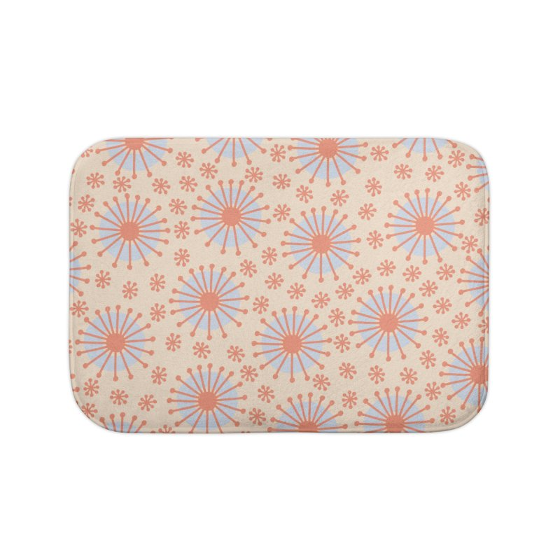 Carousel Retro Blue Home Bath Mat by Caligráfica