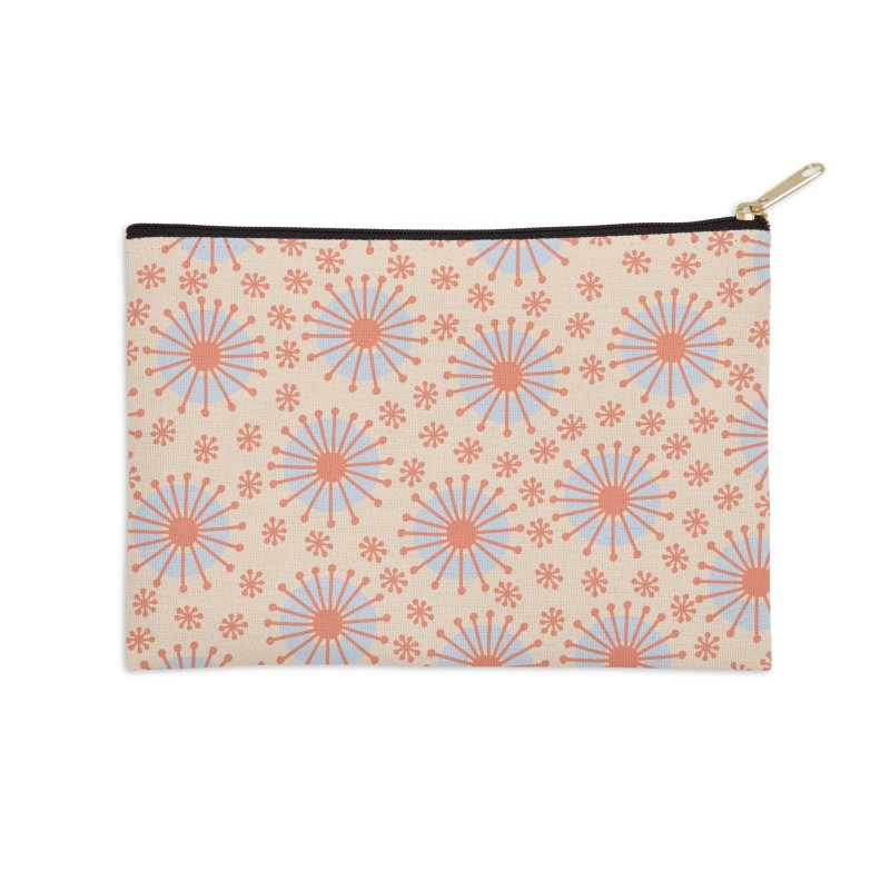 Carousel Retro Blue Accessories Zip Pouch by Caligráfica
