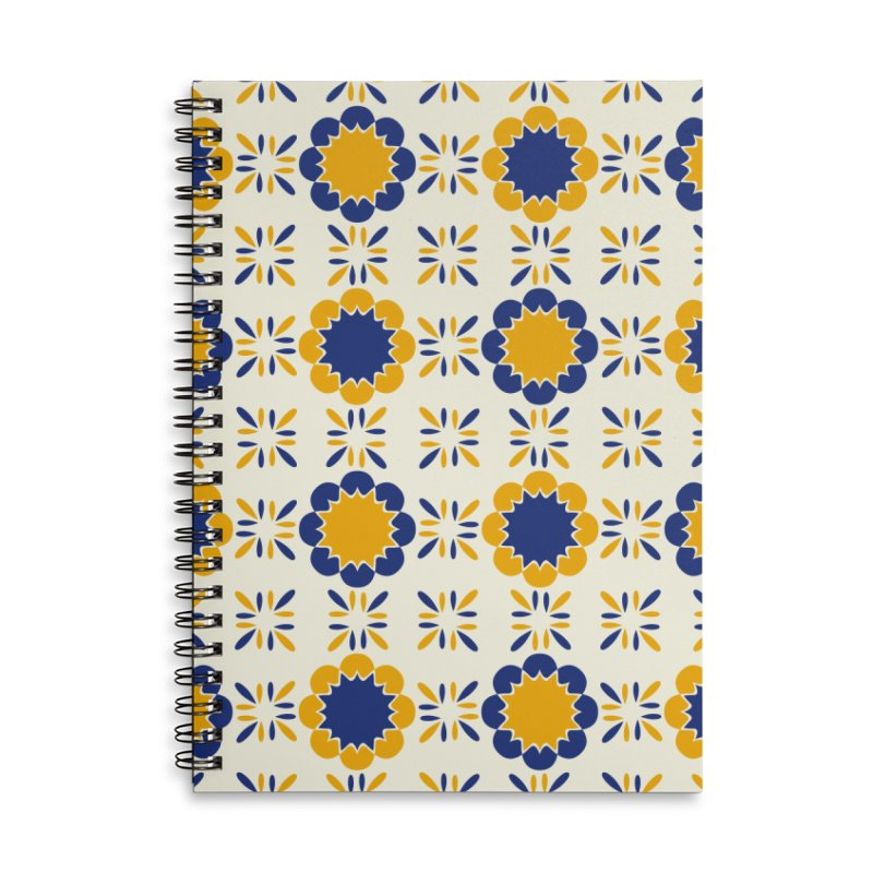 Lisboeta Tile Accessories Lined Spiral Notebook by Caligráfica