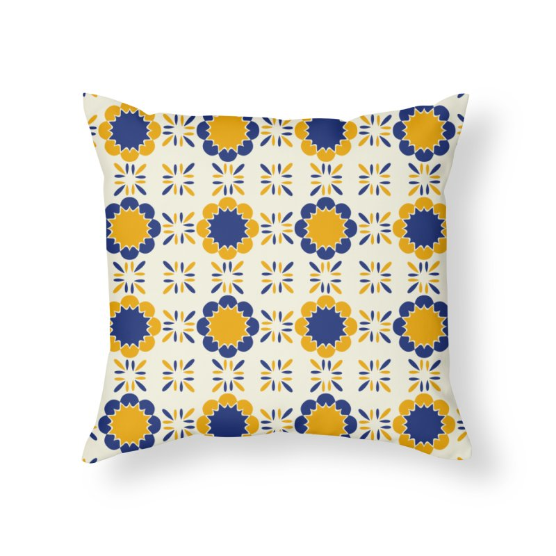 Lisboeta Tile Home Throw Pillow by Caligráfica