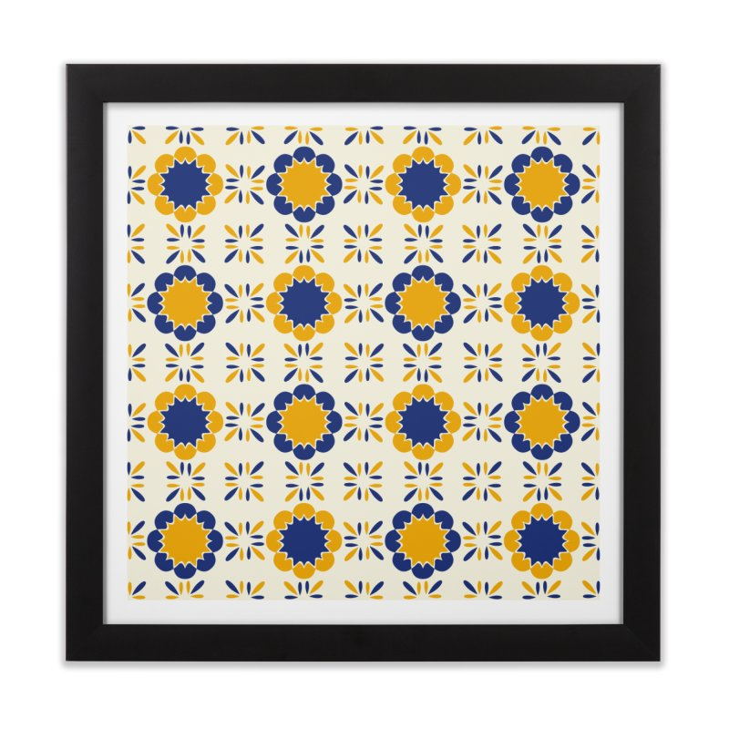 Lisboeta Tile Home Framed Fine Art Print by Caligráfica
