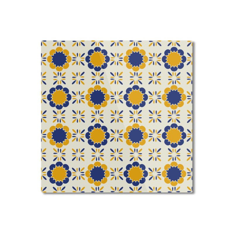 Lisboeta Tile Home Mounted Aluminum Print by Caligráfica