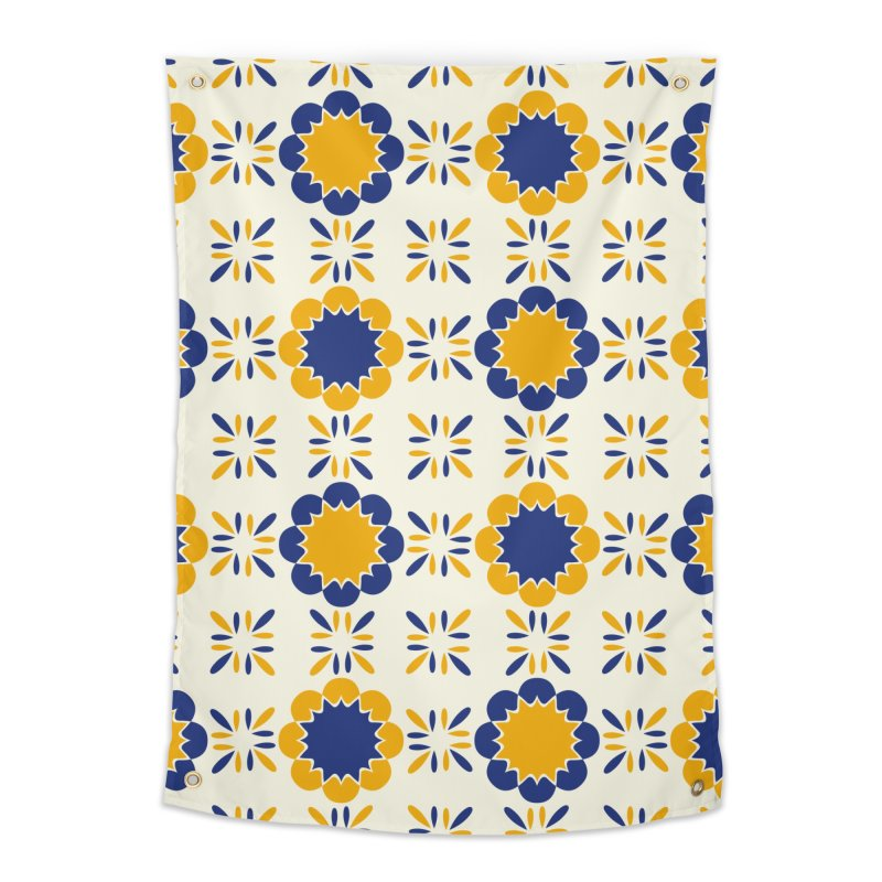Lisboeta Tile Home Tapestry by Caligráfica