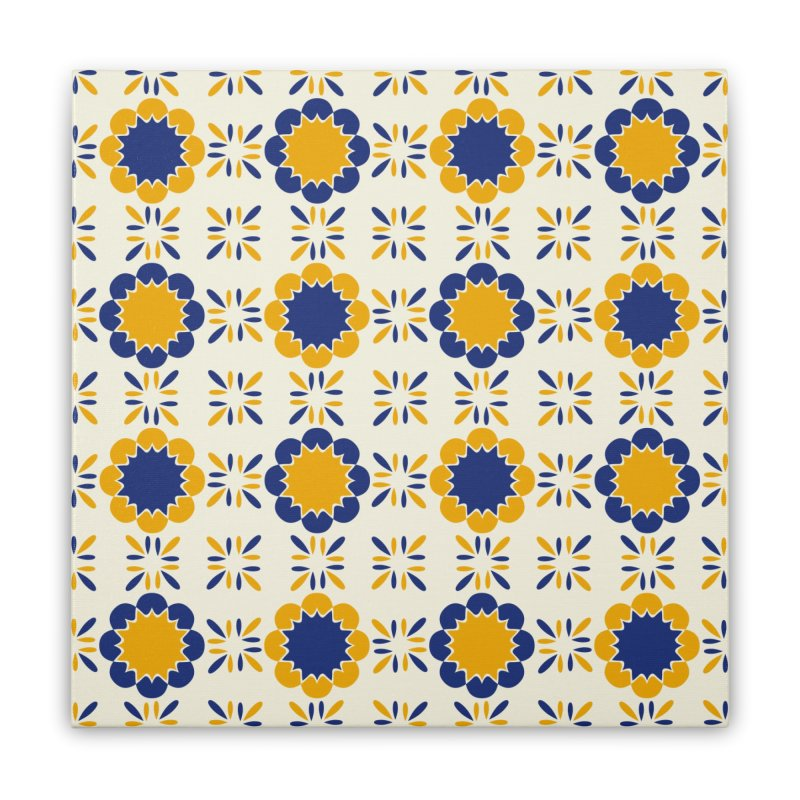 Lisboeta Tile Home Stretched Canvas by Caligráfica