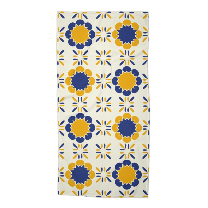 Lisboeta Tile Accessories Beach Towel by Caligráfica
