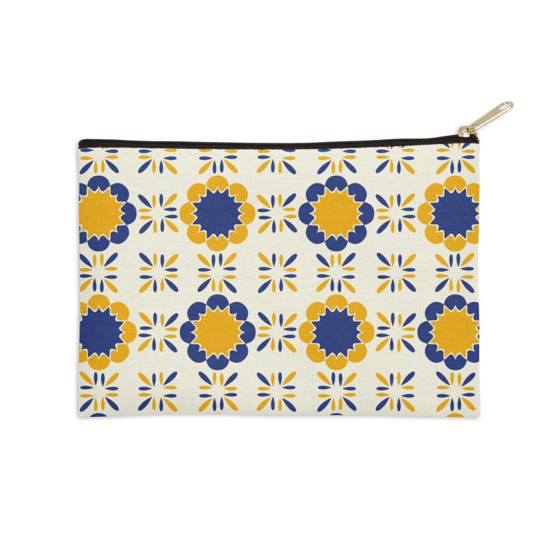 Lisboeta Tile Accessories Zip Pouch by Caligráfica