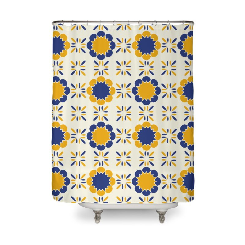 Lisboeta Tile Home Shower Curtain by Caligráfica