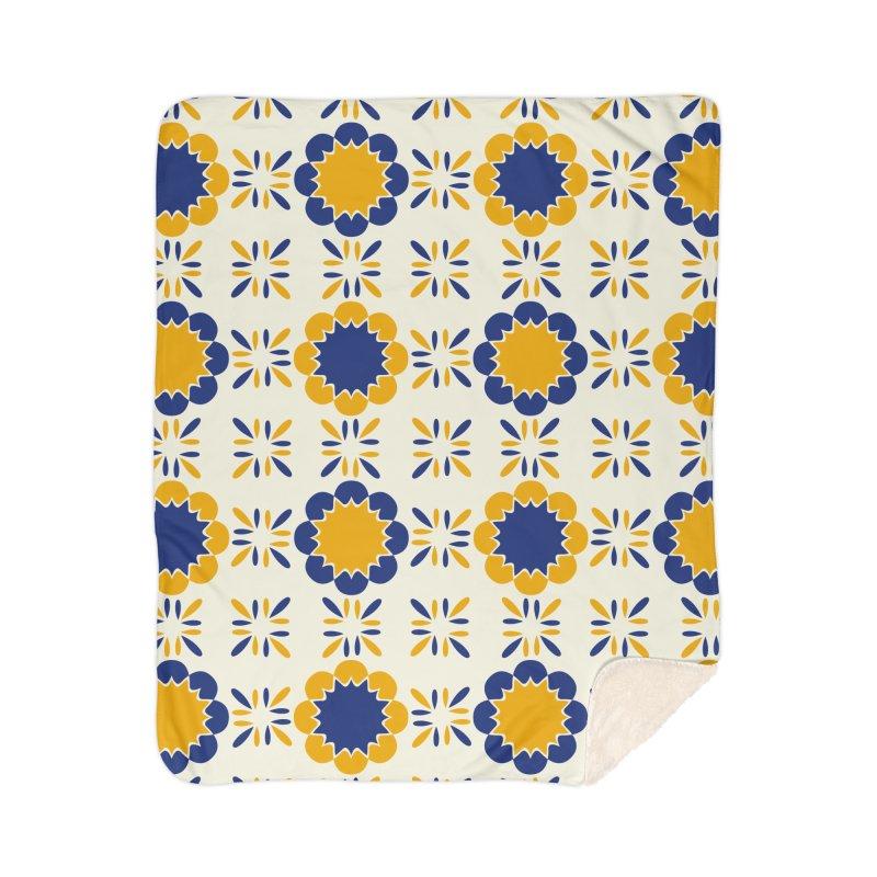 Lisboeta Tile Home Sherpa Blanket Blanket by Caligráfica