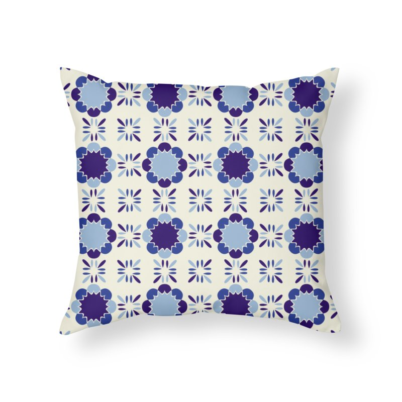 Portuense Tile Home Throw Pillow by Caligráfica
