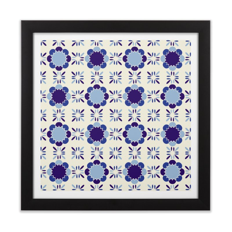 Portuense Tile Home Framed Fine Art Print by Caligráfica