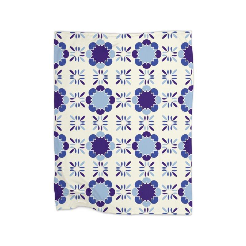 Portuense Tile Home Fleece Blanket Blanket by Caligráfica