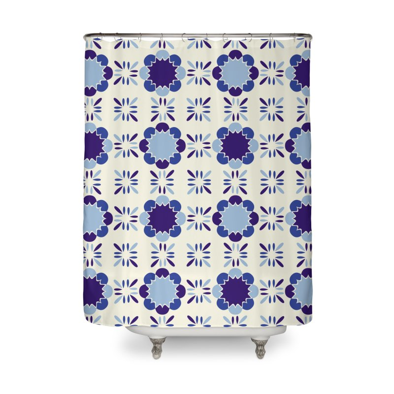 Portuense Tile Home Shower Curtain by Caligráfica