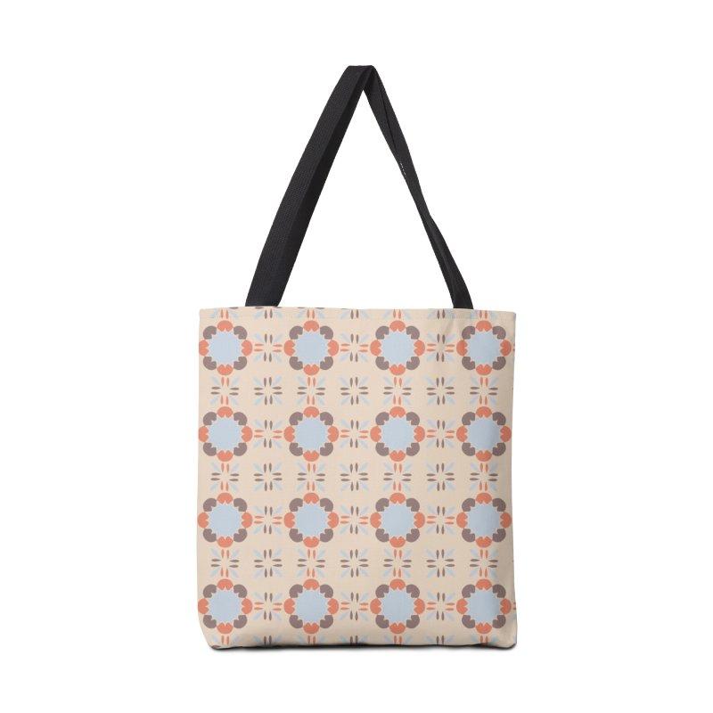 Blue Retro Tile Accessories Tote Bag Bag by Caligráfica
