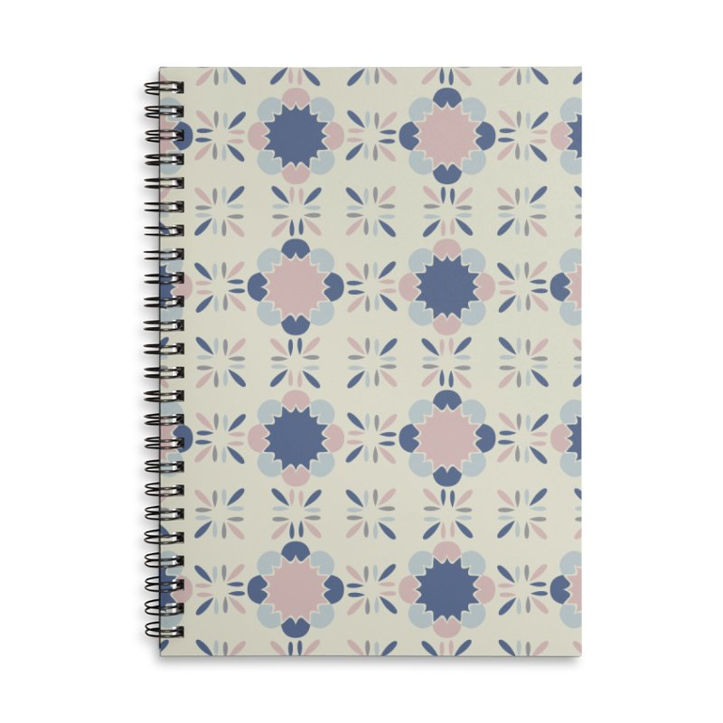 Pastel Tile Accessories Lined Spiral Notebook by Caligráfica